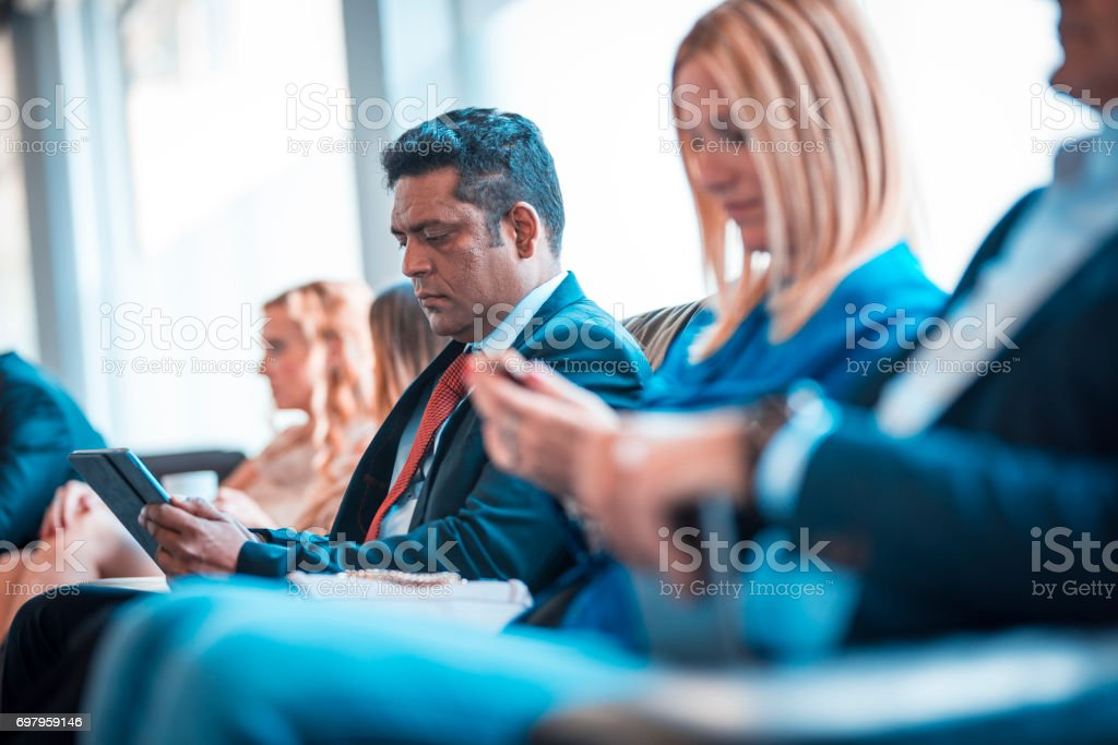 They are prepared for job interview stock photo