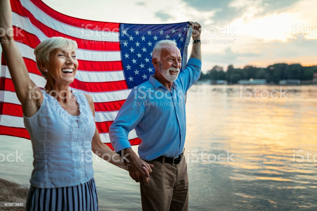 They are proud of their country stock photo