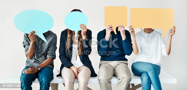 istock They are putting their opinions out there 913331108