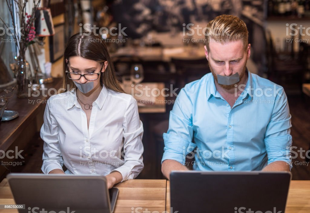 They are stuck in all the work waiting to be done. stock photo