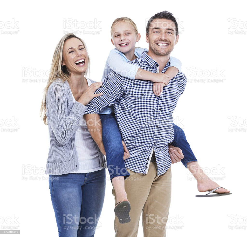 They are the picture of a wholesome, loving family stock photo