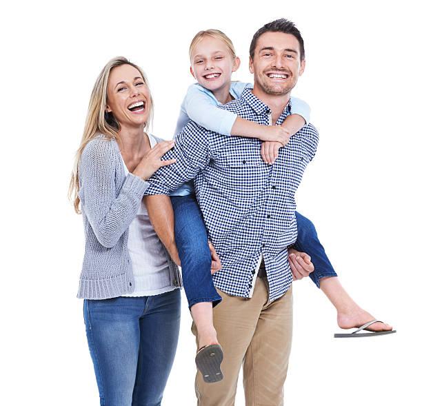 sono l'immagine di una sana e amorevole famiglia - couple portrait caucasian foto e immagini stock
