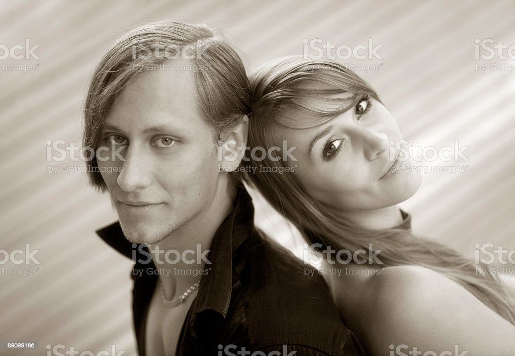 They beautiful and young royalty-free stock photo