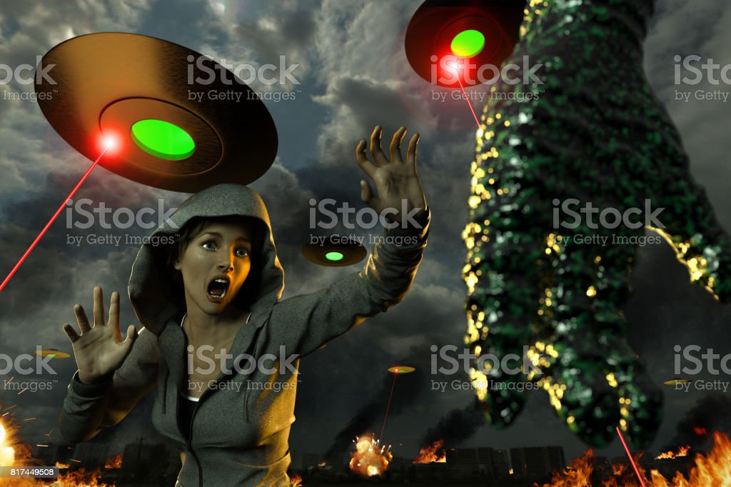 They Came From Outer Space stock photo