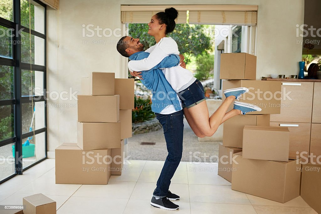 They can't contain their excitement stock photo