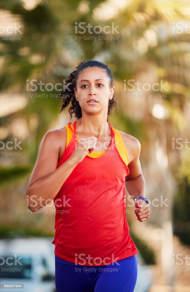They can't outrun me stock photo