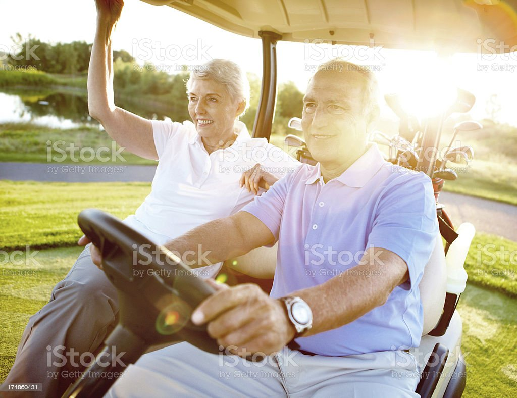 They can't wait to tee off royalty-free stock photo
