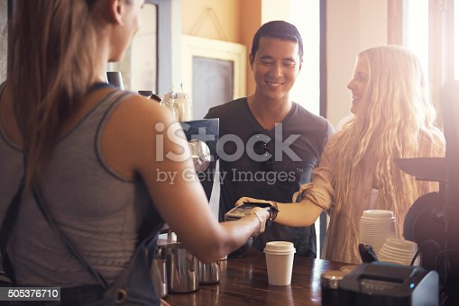 istock They come here for the coffee and the convenience 505376710