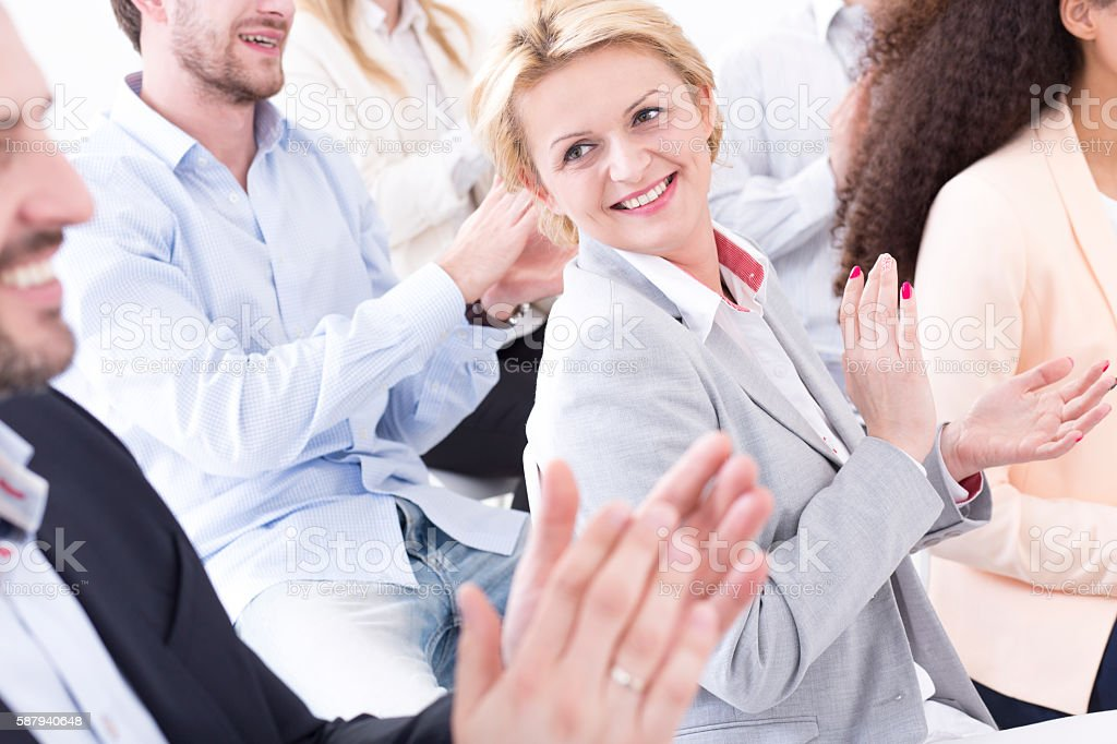 They couldn't be prouder stock photo