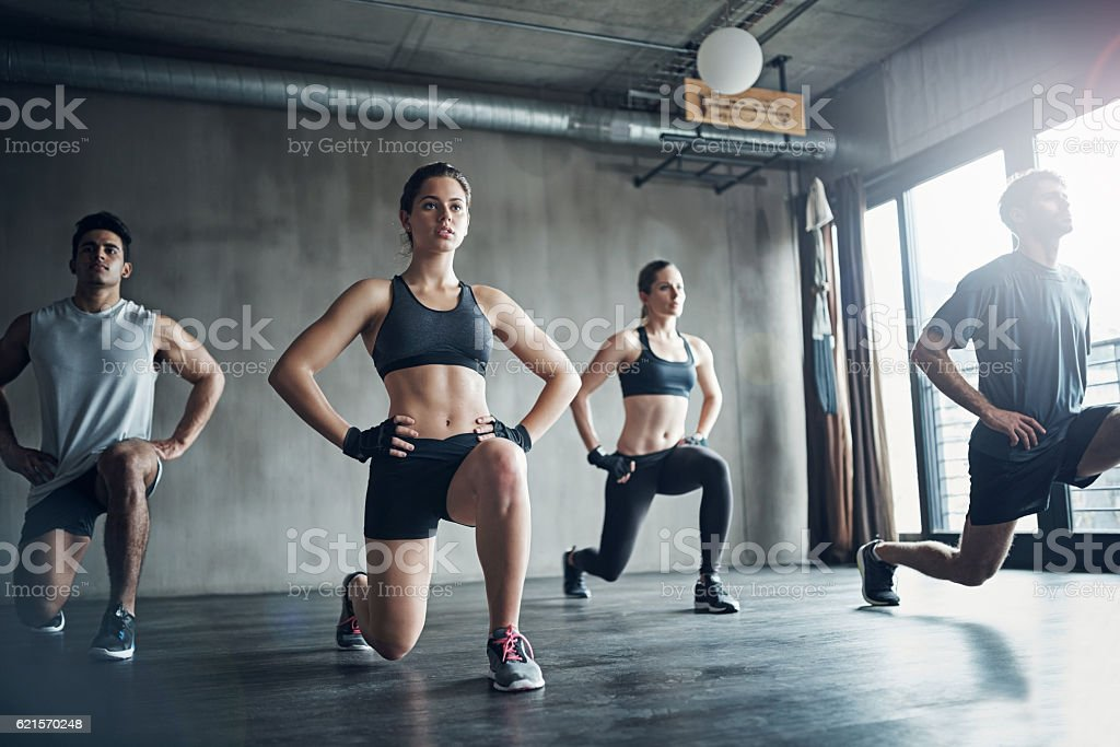 They encourage me to stick to my fitness goals stock photo