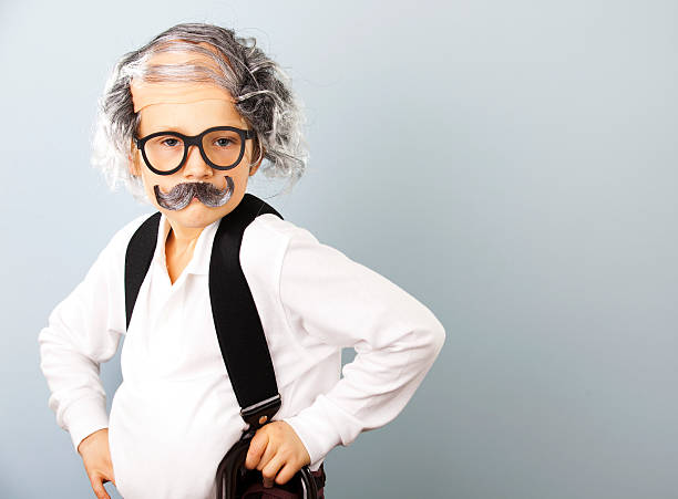 They Grow Up Fast Little boy dressed as an old man. suspenders stock pictures, royalty-free photos & images