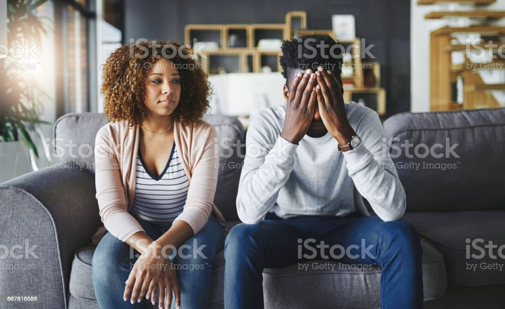 They just can't seem to face their problems anymore stock photo