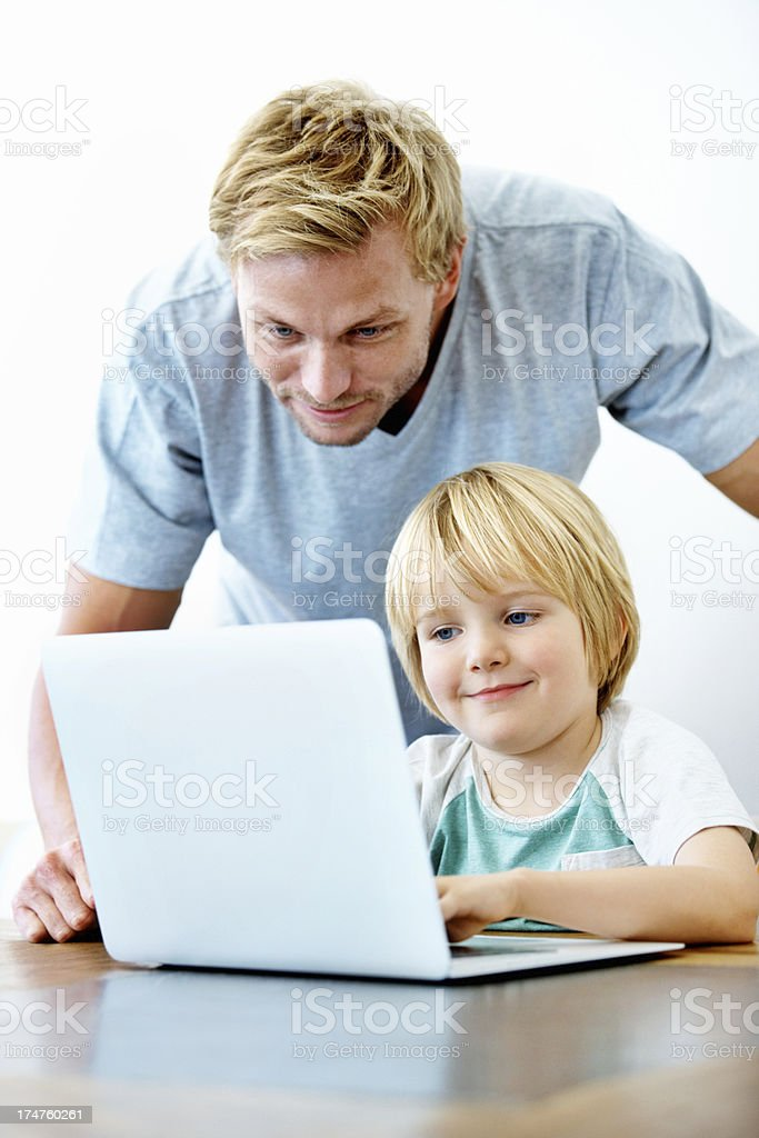 They learn so fast these days royalty-free stock photo