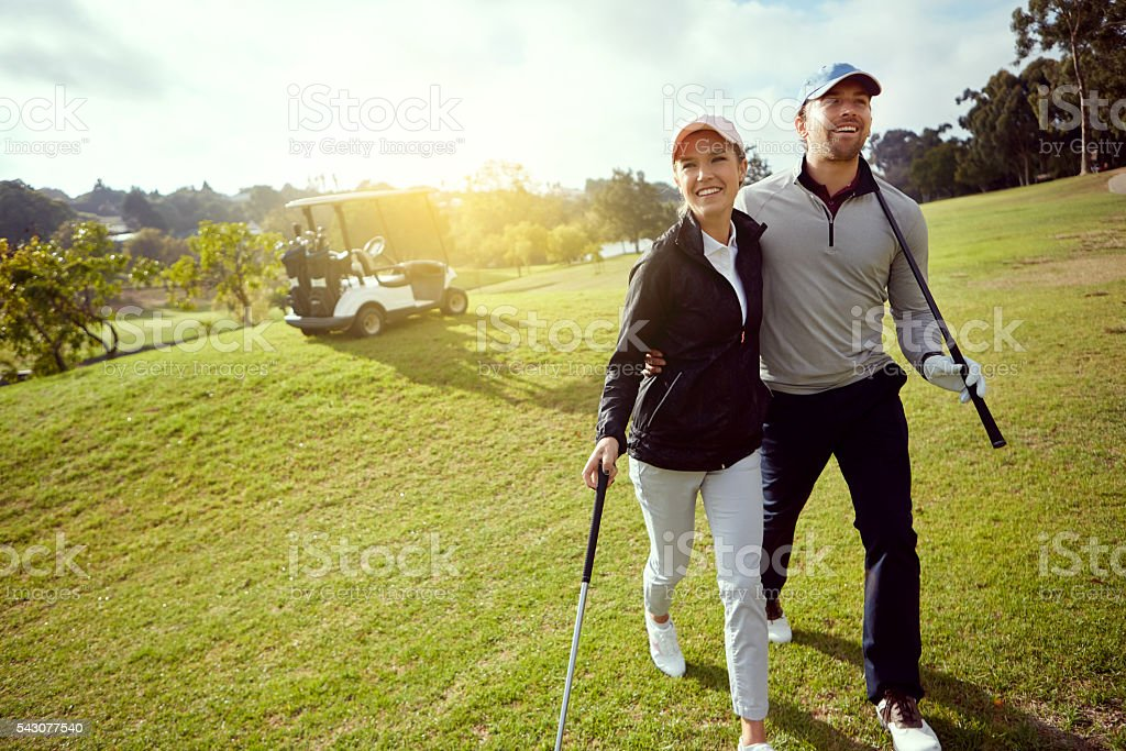 They love golfing stock photo