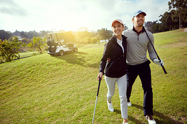 they love golfing - golf stock photos and pictures
