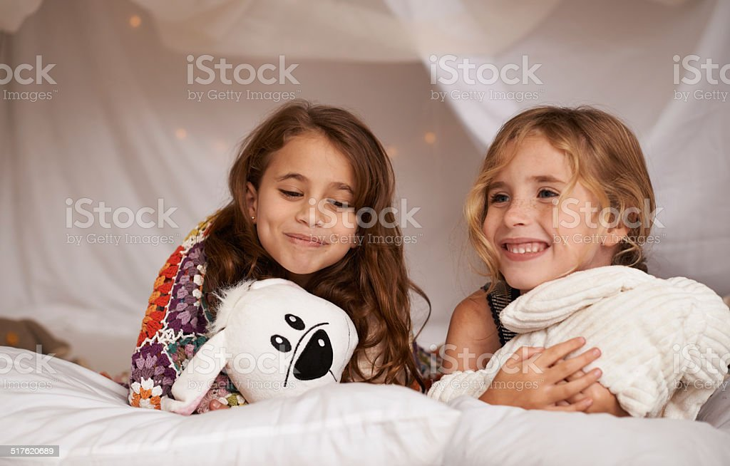 They love hanging out together stock photo