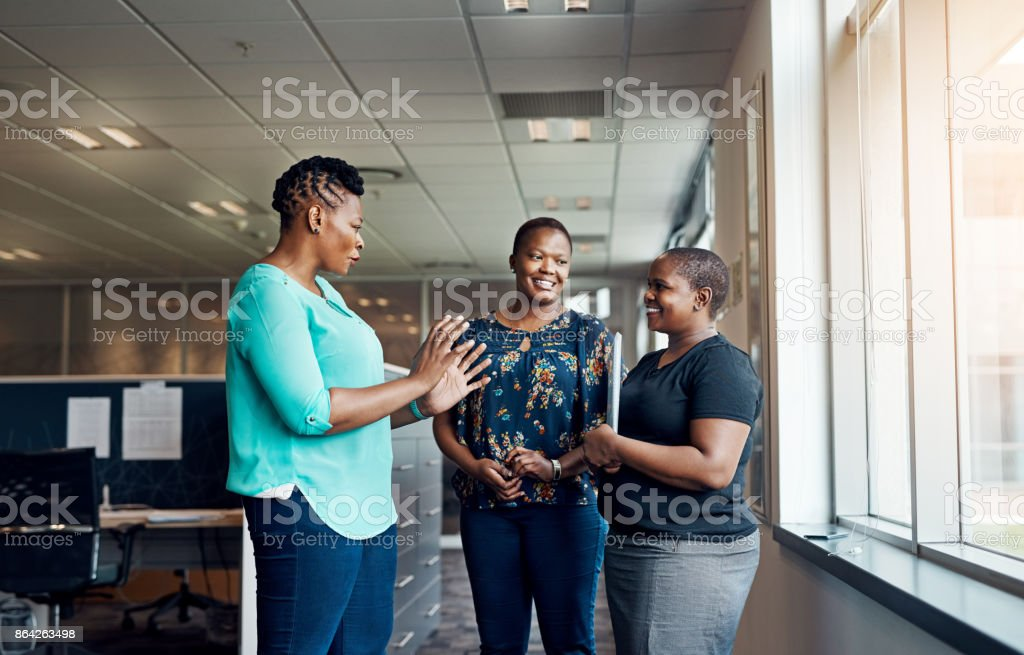 They love talking business royalty-free stock photo