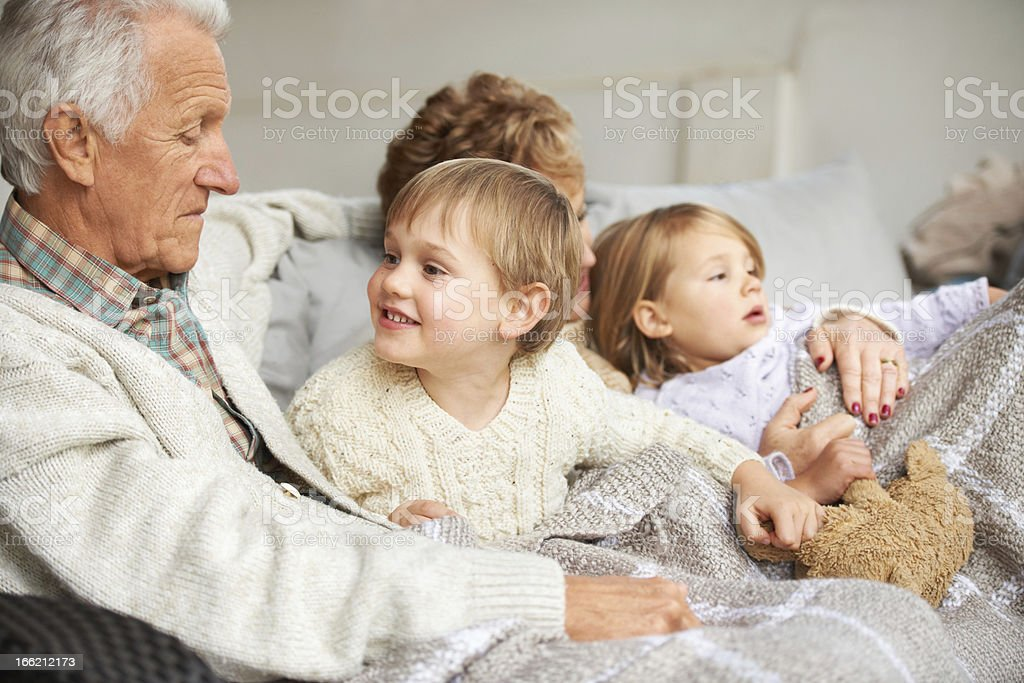 They love their grandkids royalty-free stock photo