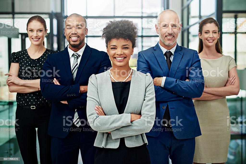 They love what they do and it shows royalty-free stock photo