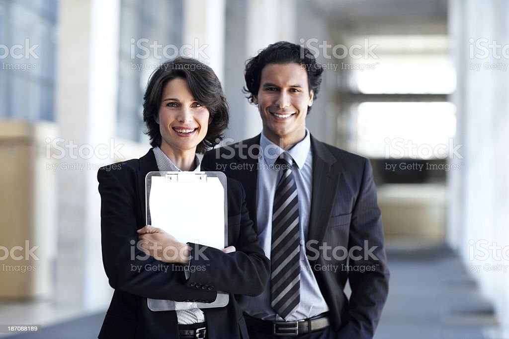 They make a great team! royalty-free stock photo
