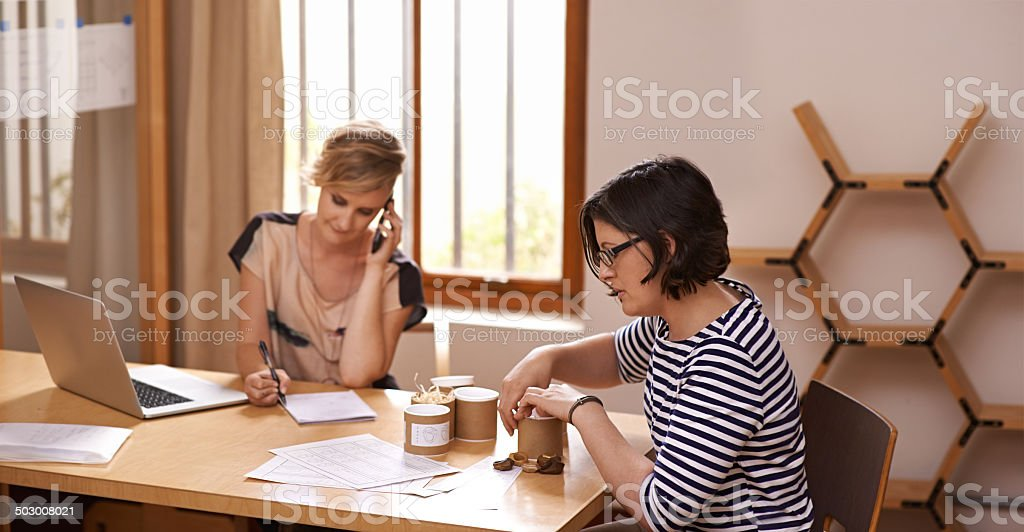 They make a great team stock photo