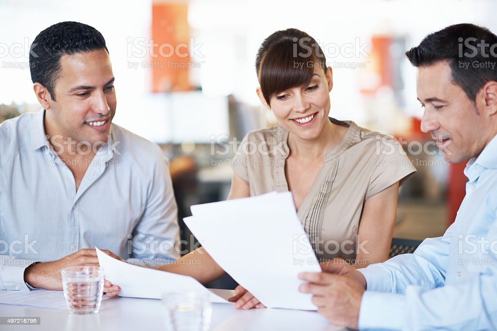 They make success look easy stock photo