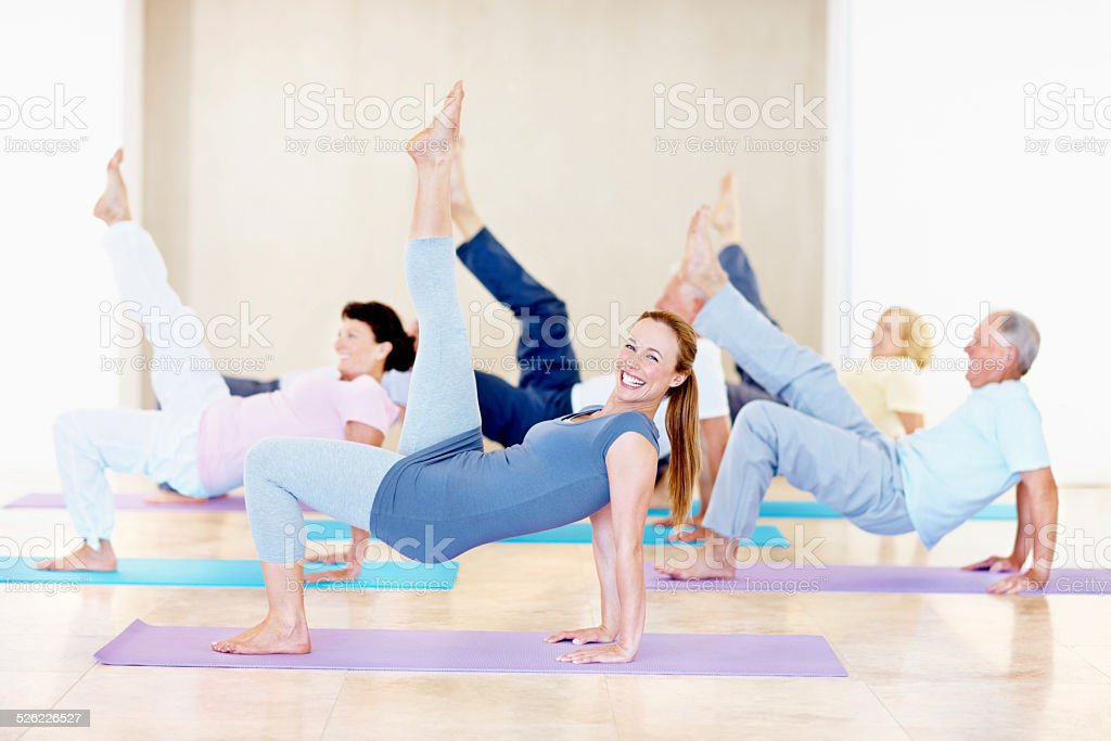 They may be seniors but they are in great shape! stock photo