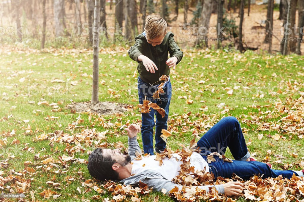 They never leaf out fun from their day - Royalty-free Adult Stock Photo