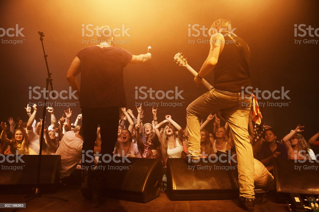 They own that stage stock photo