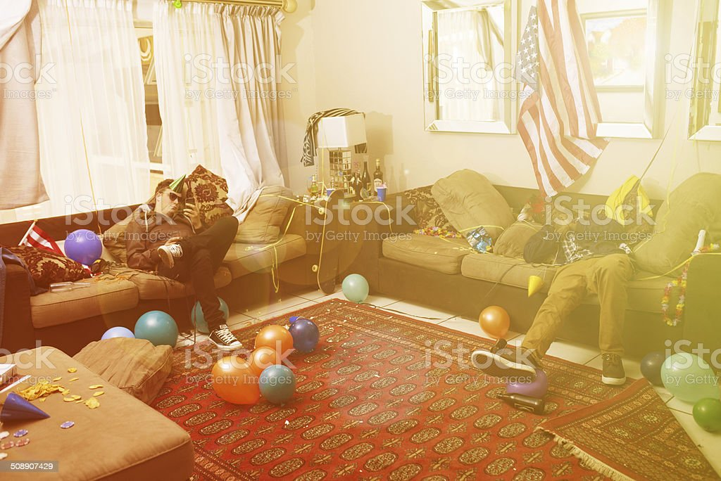 They party hard stock photo