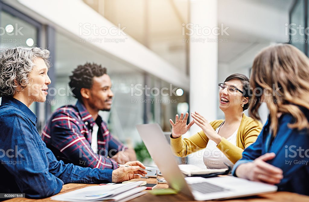 They produce the most dynamic work together stock photo