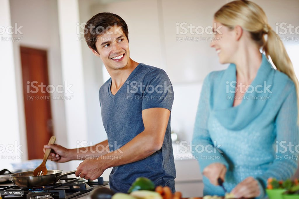 They put love into every meal stock photo