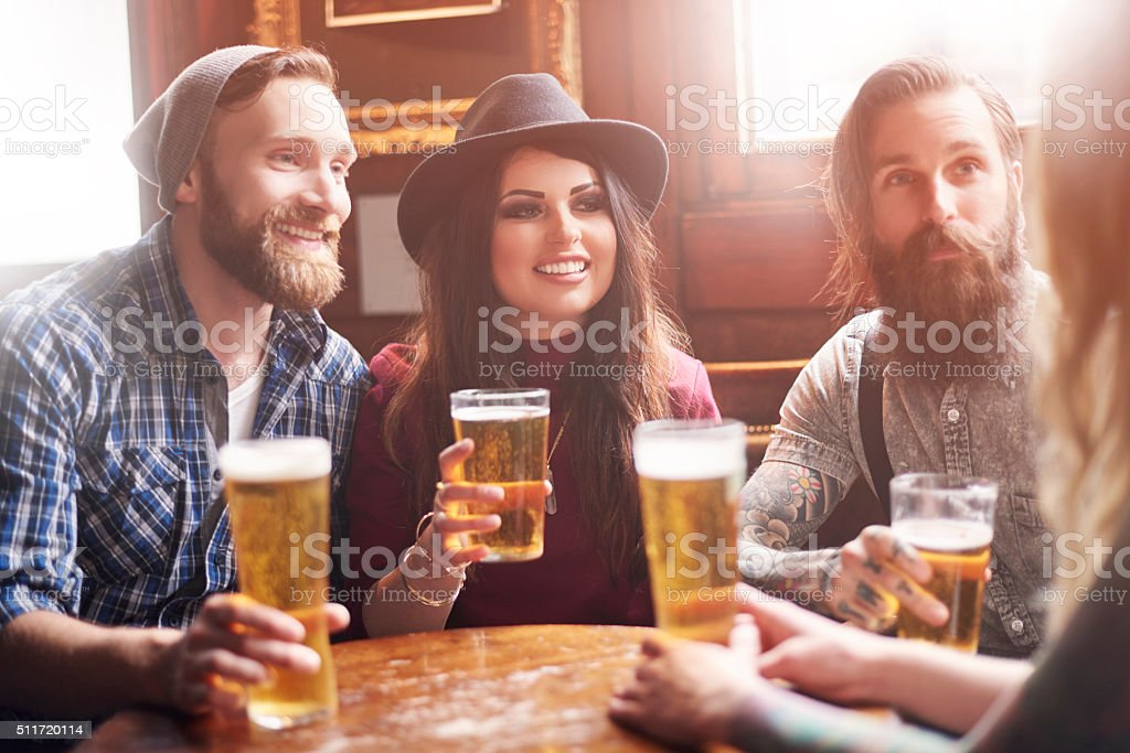 They really enjoy the time together stock photo