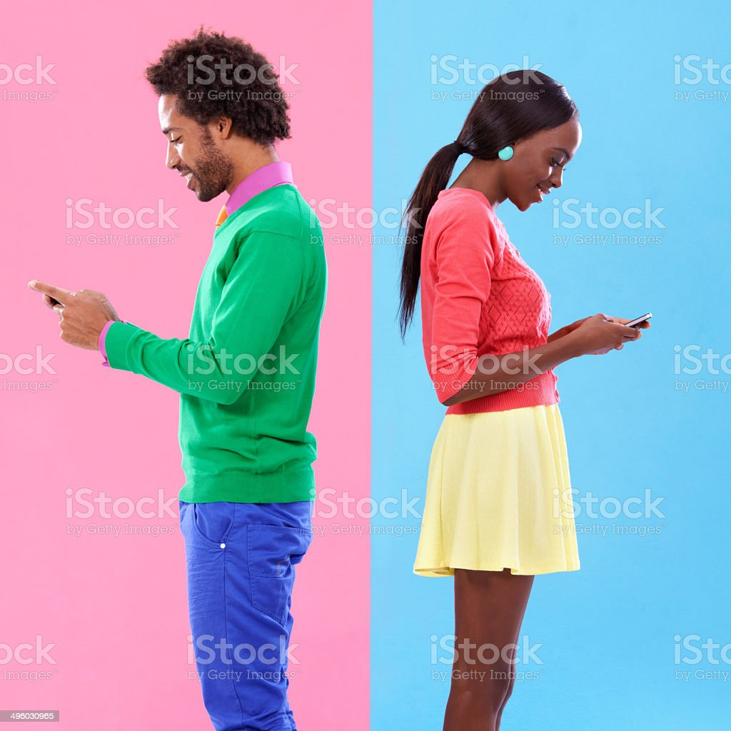 They say opposites attract stock photo