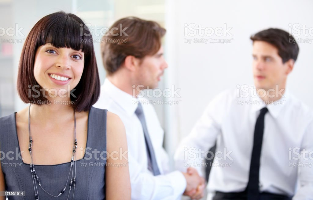 They send me to seal the deal royalty-free stock photo