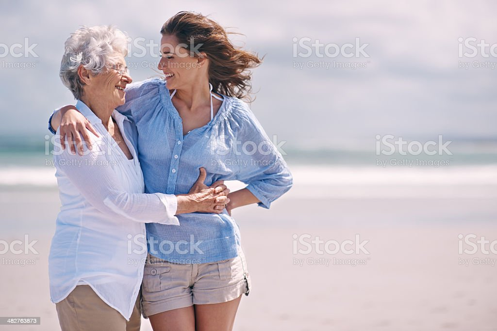 They share a bond created by years of love stock photo