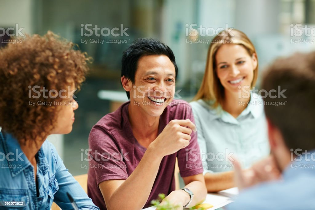 They share a great work relationship stock photo