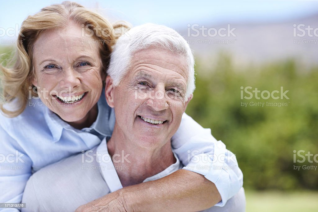 They still have a loving and playful relationship royalty-free stock photo