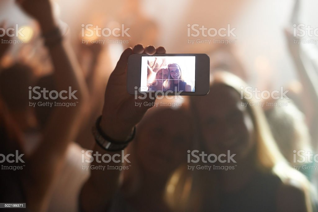 They want to remember this night forever stock photo