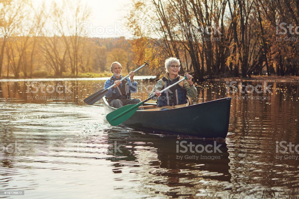 They went looking for adventure and found it stock photo