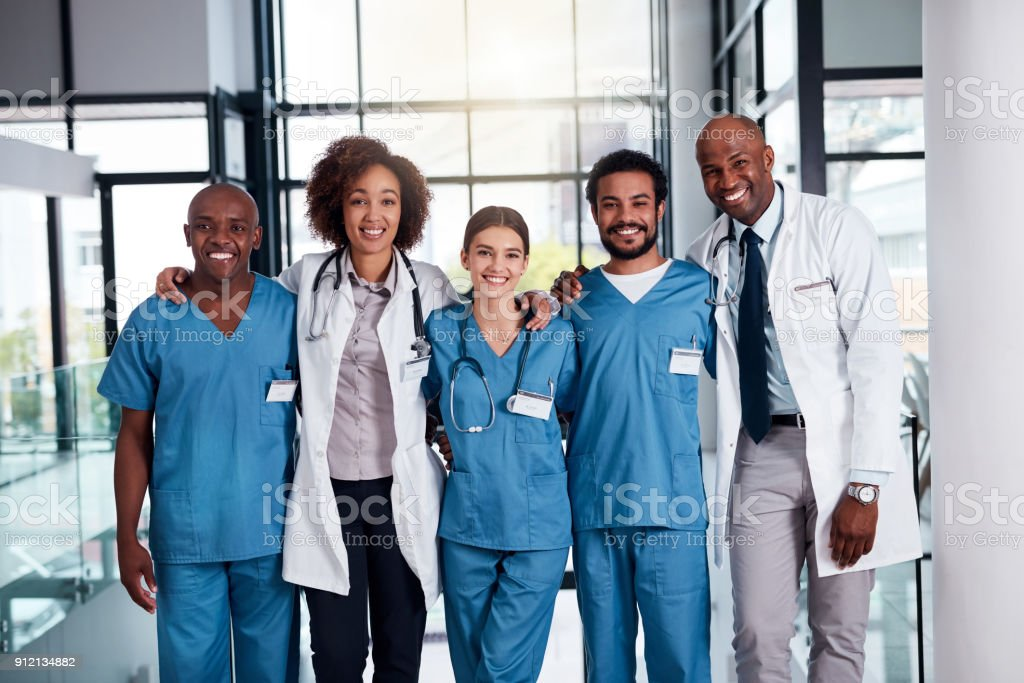 They will take care of your medical needs stock photo