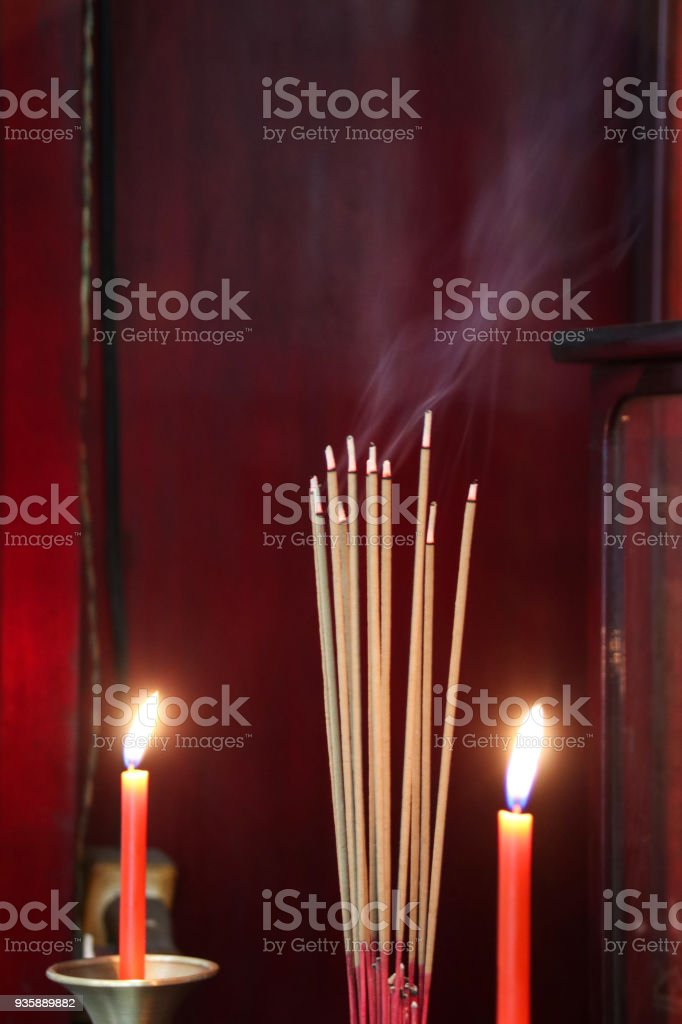 They worship gods or their ancestors by lighting incense sticks royalty-free stock photo & They Worship Gods Or Their Ancestors By Lighting Incense Sticks ...