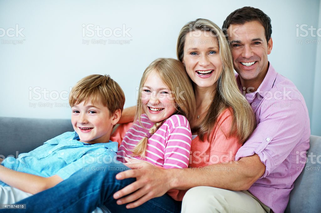 They're a close-knit family royalty-free stock photo
