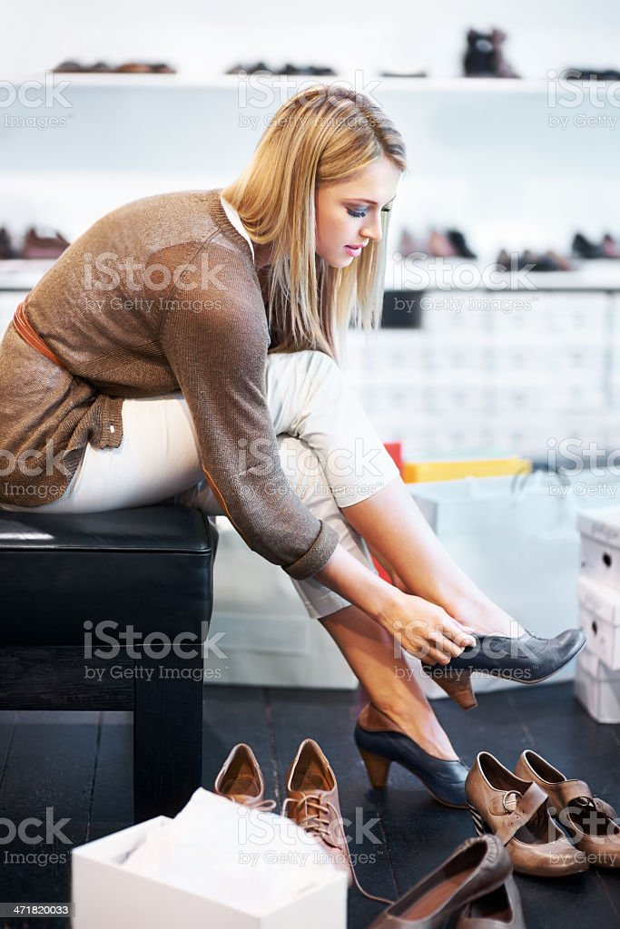 They're a little tight... stock photo