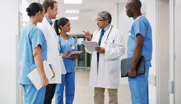 They're all trained and experienced to handle any medical matter stock photo