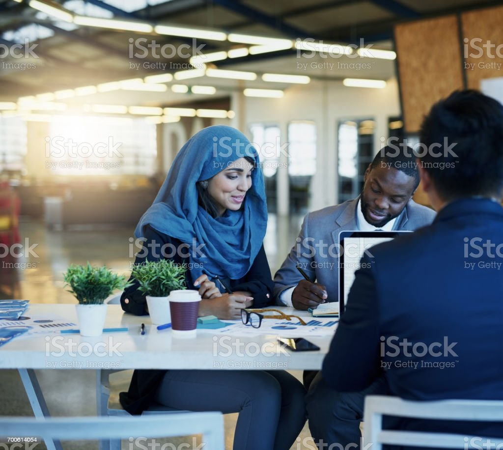 They're always looking for new ways to make business better stock photo