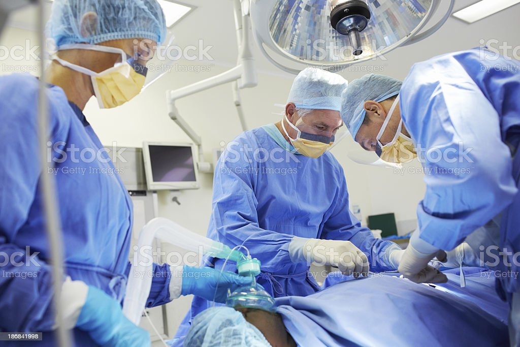 They're an expert surgical team stock photo