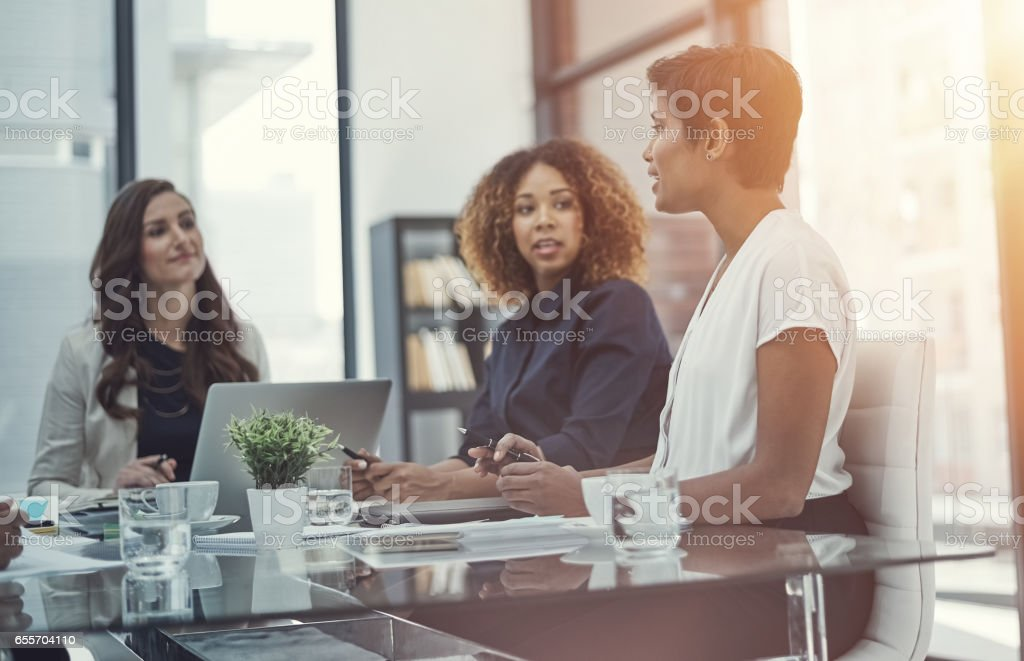 They're completely dedicated to business objectives stock photo