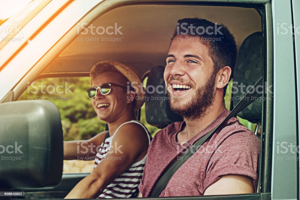 They're excited for the adventure that awaits stock photo
