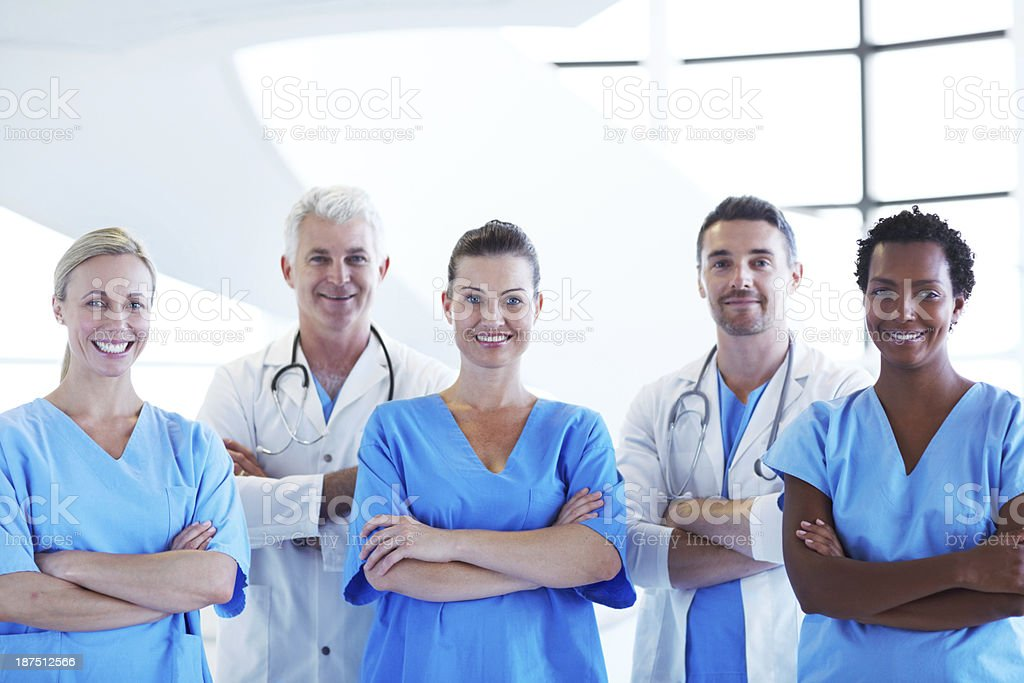 They're experts in the healthcare field royalty-free stock photo